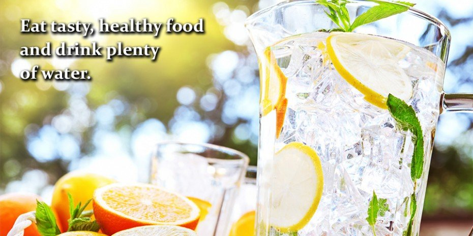 Help your holistic health-eat tasty, healthy food and drink plenty of water.
