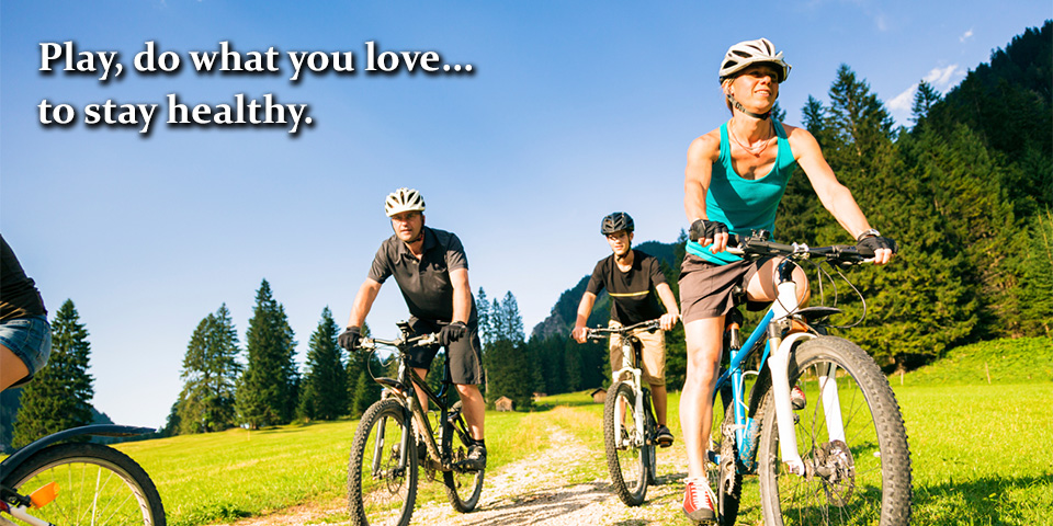 Play, do what you love… to stay healthy with Tigard holistic health.