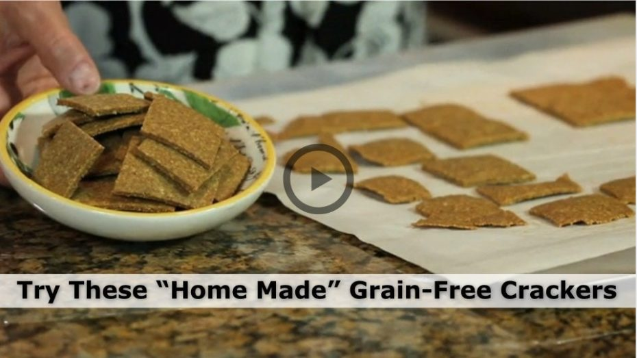 Healthy, natural grain free crackers.